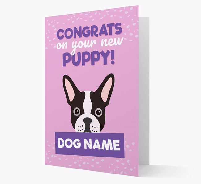 'Congrats On Your New Puppy!' - Personalised French Bulldog Card