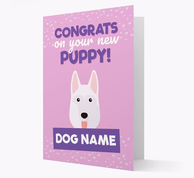 'Congrats On Your New Puppy!' - Personalised German Shepherd Card