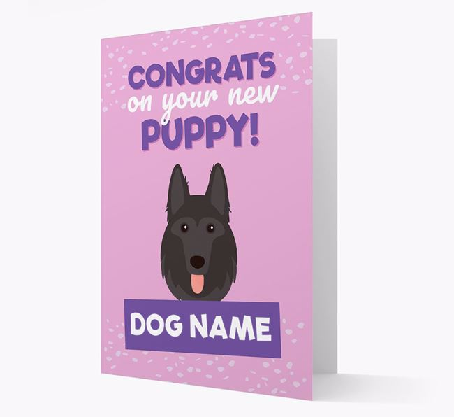 'Congrats On Your New Puppy!' - Personalized German Shepherd Card