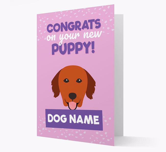 'Congrats On Your New Puppy!' - Personalized Golden Retriever Card