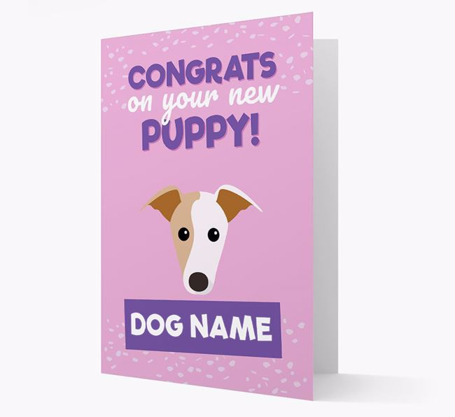 'Congrats On Your New Puppy!' - Personalised Greyhound Card