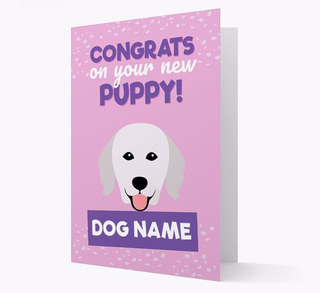 'Congrats On Your New Puppy!' - Personalized Hungarian Kuvasz Card