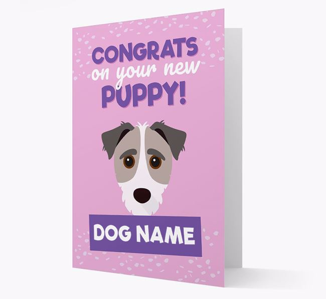 'Congrats On Your New Puppy!' - Personalized Jack-A-Poo Card