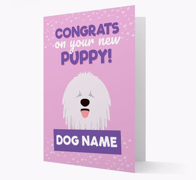 'Congrats On Your New Puppy!' - Personalised Komondor Card