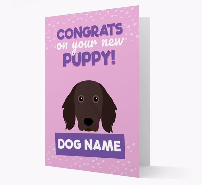 'Congrats On Your New Puppy!' - Personalized Large Munsterlander Card