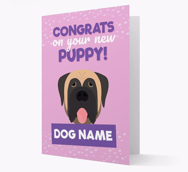 'Congrats On Your New Puppy!' - Personalised Dog Card