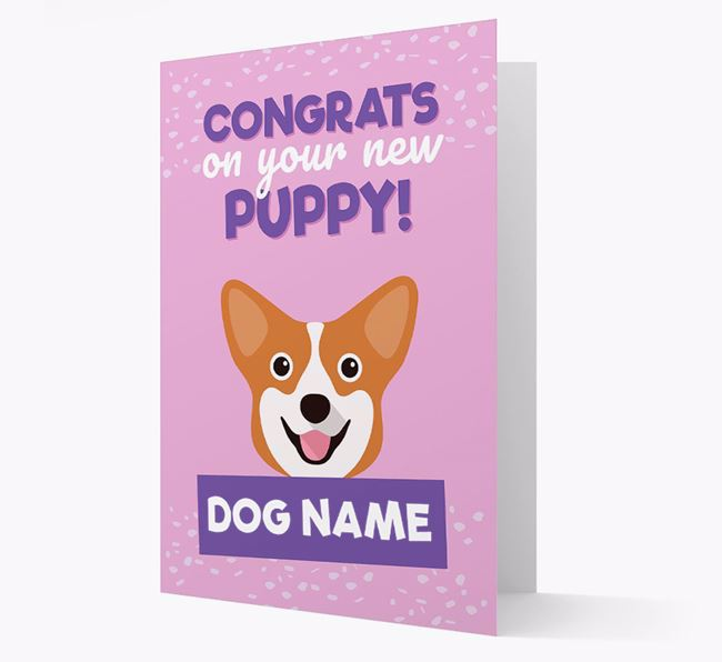 'Congrats On Your New Puppy!' - Personalized Pembroke Welsh Corgi Card