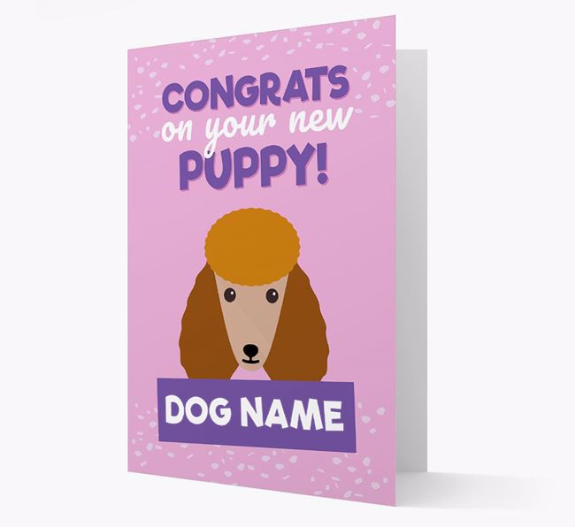 'Congrats On Your New Puppy!' - Personalised Poodle Card