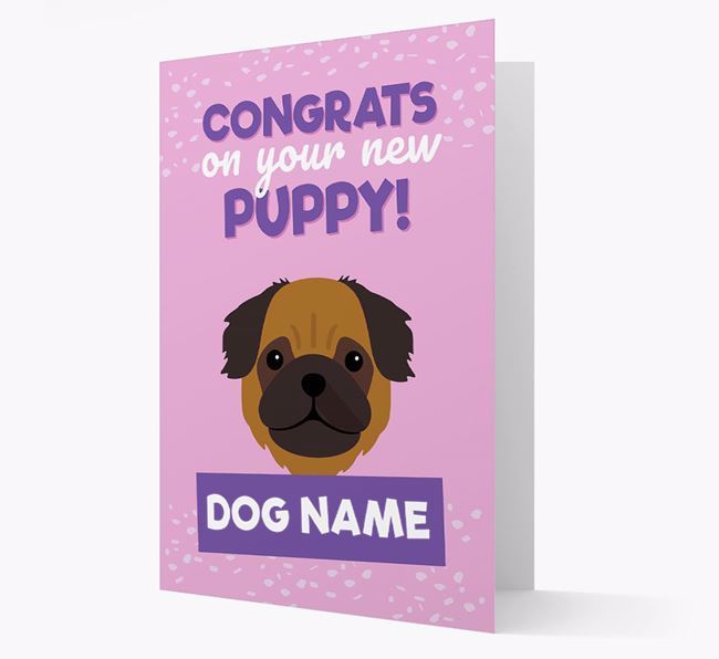 'Congrats On Your New Puppy!' - Personalized Pug Card