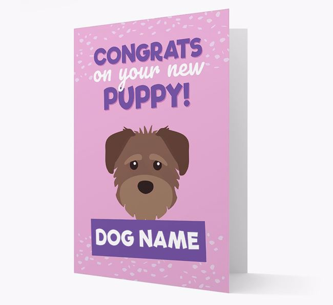 'Congrats On Your New Puppy!' - Personalized Schnoodle Card