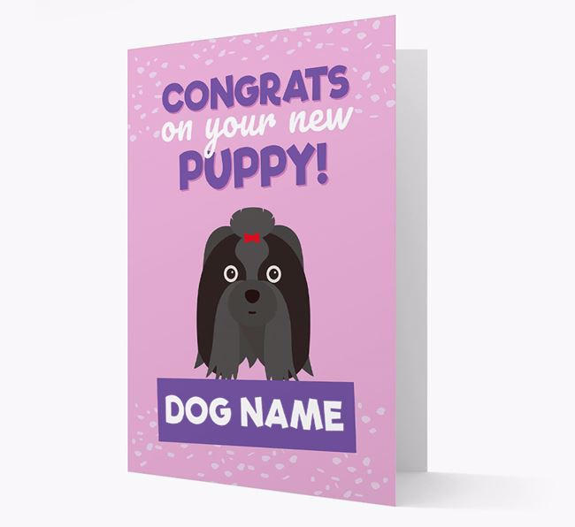 'Congrats On Your New Puppy!' - Personalized Shih Tzu Card