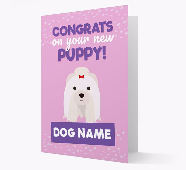 'Congrats On Your New Puppy!' - Personalised Shih Tzu Card