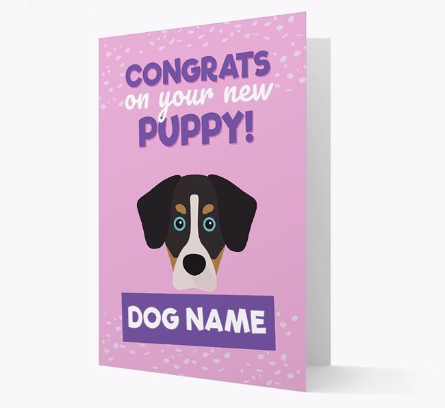 'Congrats On Your New Puppy!' - Personalized Siberian Cocker Card