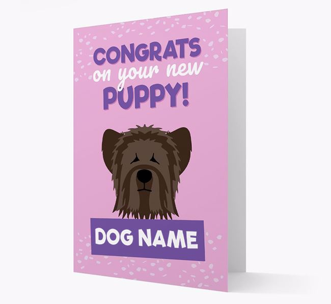 'Congrats On Your New Puppy!' - Personalized Skye Terrier Card