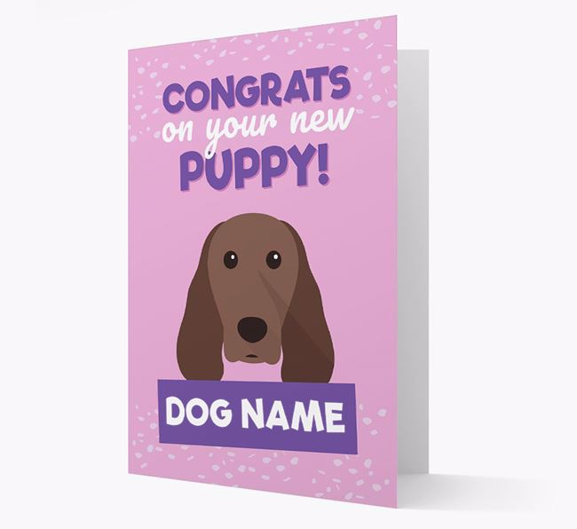 'Congrats On Your New Puppy!' - Personalized Springer Spaniel Card