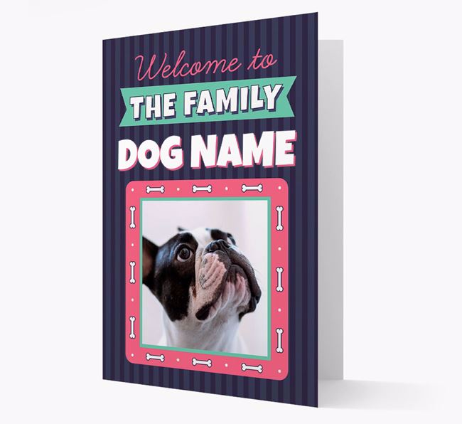 'Welcome To The Family' - Personalized French Bulldog Card