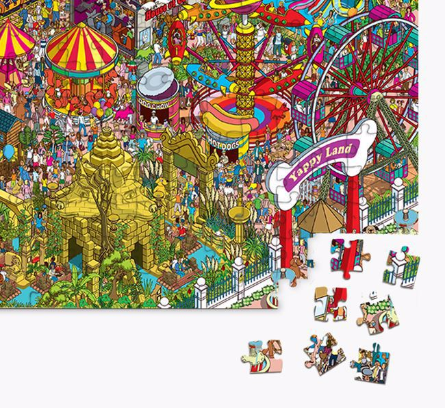 'Yappy Land' Jigsaw Puzzle Featuring your Schnauzer