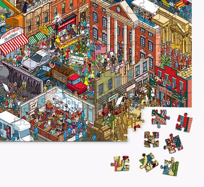 'Foxhound Studios' Jigsaw Puzzle Featuring your Staffordshire Bull Terrier