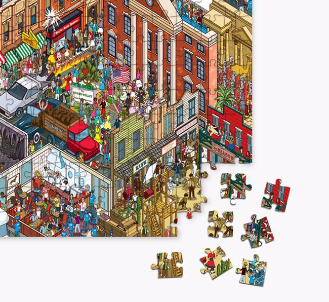 'Foxhound Studios' Jigsaw Puzzle Featuring your Staffy Jack