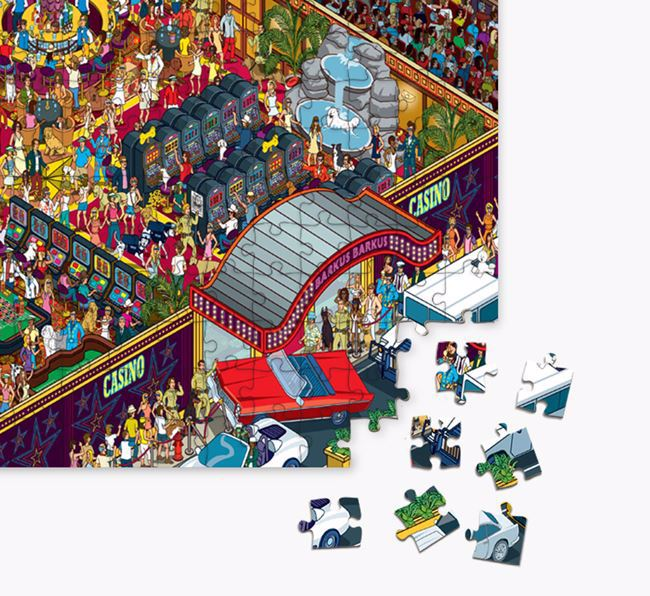 'Dalmatians Eleven' Jigsaw Puzzle Featuring your Staffordshire Bull Terrier