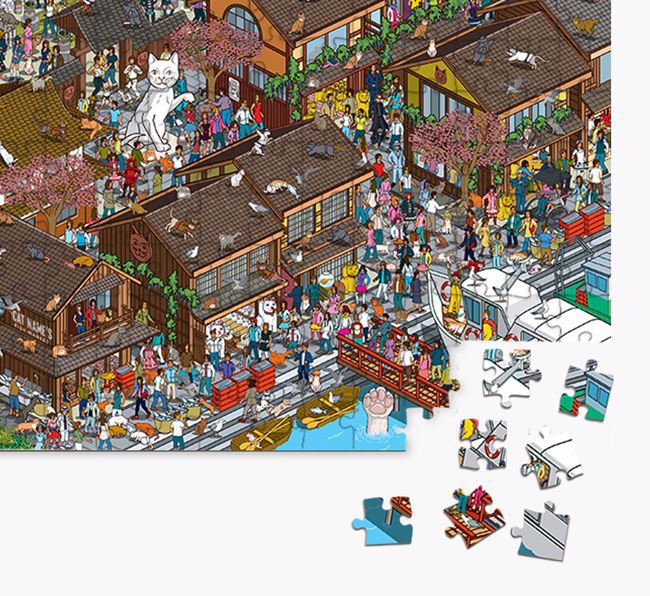 'Island Fishing' Jigsaw Puzzle Featuring your Domestic Shorthair