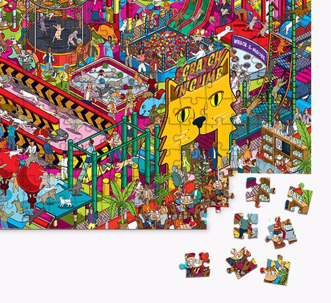'Scratch 'n' Climb' Jigsaw Puzzle Featuring your Domestic Shorthair