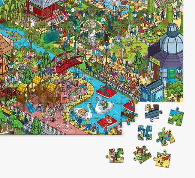 'Bark in the Park' Jigsaw Puzzle Featuring your Staffordshire Bull Terrier