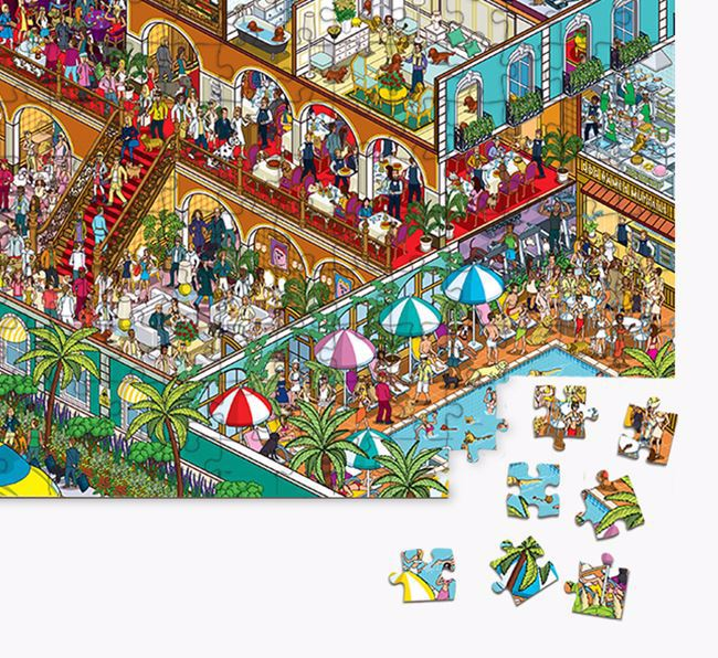 'Paw Seasons Hotel' Jigsaw Puzzle Featuring your Staffordshire Bull Terrier