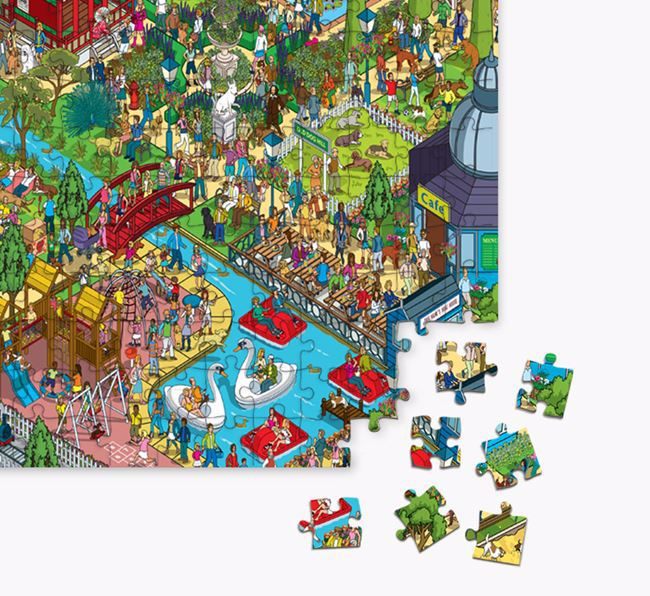 'Bark in the Park' Jigsaw Puzzle Featuring your Golden Retriever