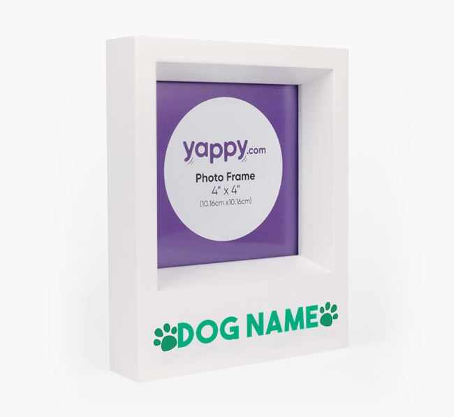 'Paw Prints' - Personalised Poodle Photo Frame