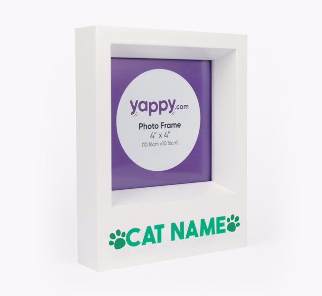 'Paw Prints' - Personalised Cat Photo Frame