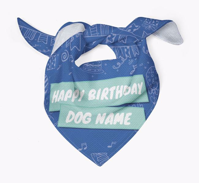 Personalized 'Happy Birthday Your Dog' Bandana