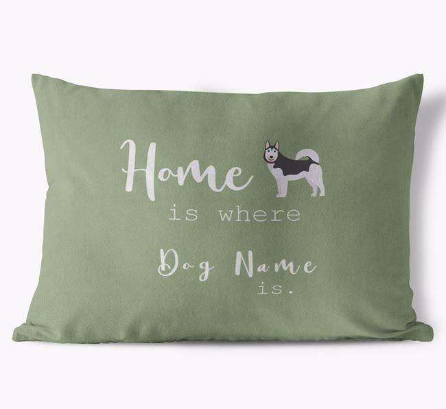 'Home Is Where Your Dog Is'  - Personalized Dog Soft Touch Pillow