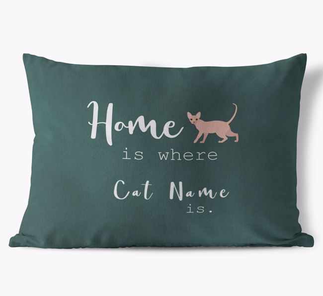 'Home Is Where Your Cat Is'  - Personalized Cat Soft Touch Pillo
