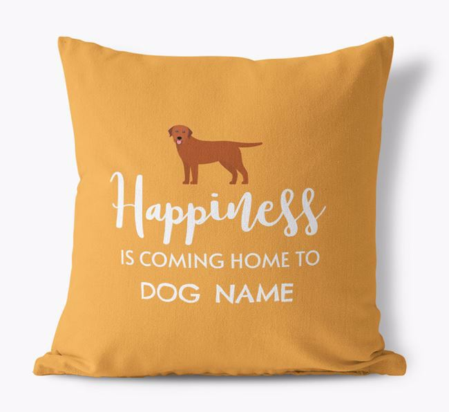 'Happiness Is...' - Personalized Labrador Retriever Canvas Pillow