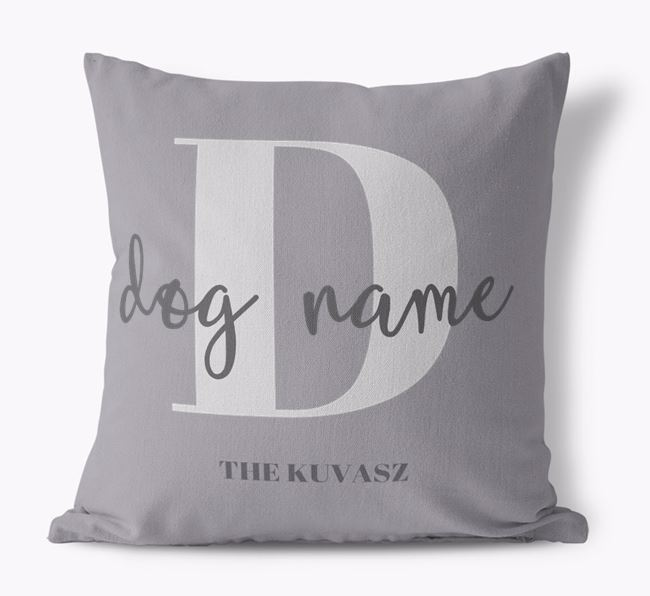 'Your Dog' - Personalized Hungarian Kuvasz Canvas Pillow