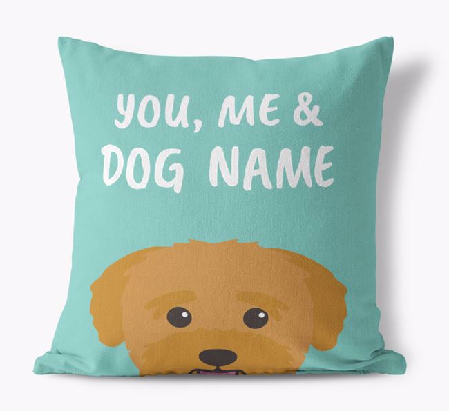 'You, Me & Your Dog' - Personalized Bichon Yorkie Canvas Pillow