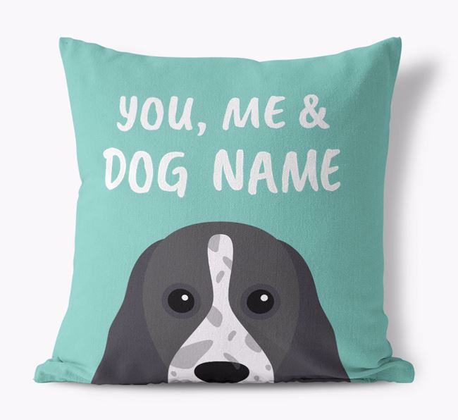 'You, Me & Your Dog' - Personalized Cocker Spaniel Canvas Pillow