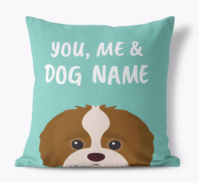 'You, Me & Your Dog' - Personalized Jack-A-Poo Canvas Pillow