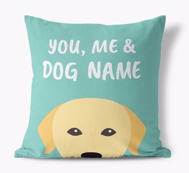 'You, Me & Your Dog' - Personalized Dog Canvas Pillow