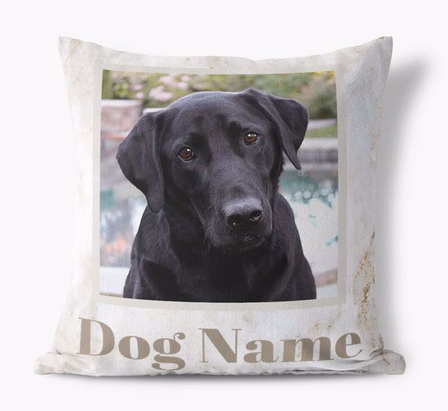 'Marble Pattern' - Personalized Labrador Retriever Photo Upload Pillow