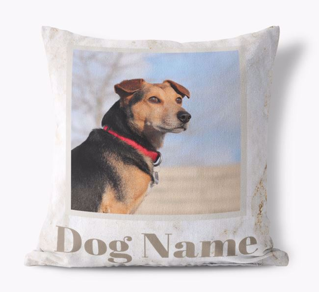 'Marble Pattern' - Personalized Dog Photo Upload Pillow