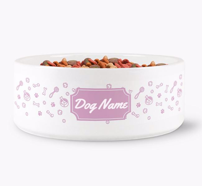 Personalised Pattern Dog Bowl for Your Dog