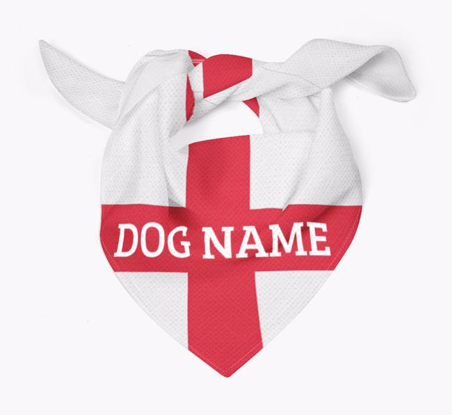 English Flag - Personalised Maltipom Bandana