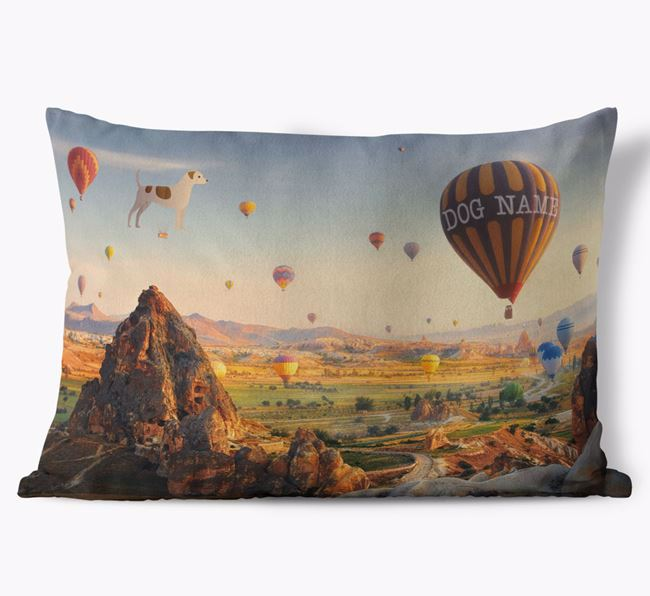 'Hot Air Balloons' - Personalized Dog Soft Touch Pillow