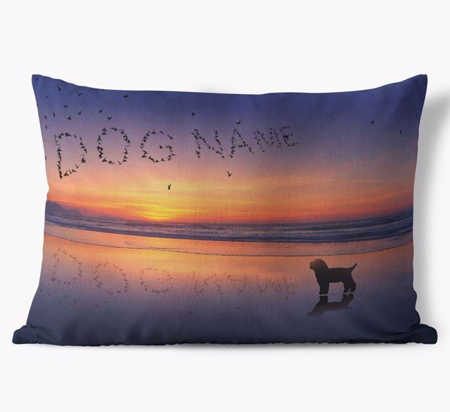 'Sunset Beach' - Personalized Bichon Yorkie Soft Touch Pillow
