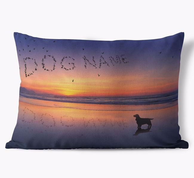 'Sunset Beach' - Personalized Cocker Spaniel Soft Touch Pillow