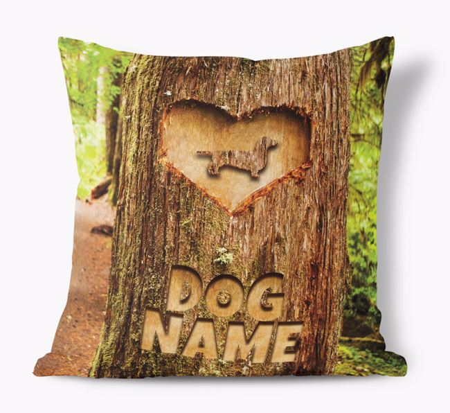 'Tree Carving' - Personalised Dog Soft Touch Cushion