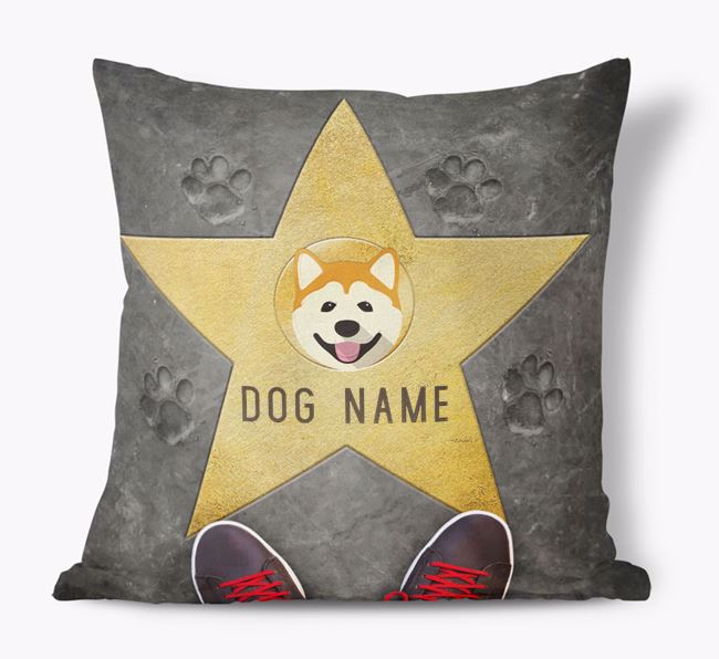 'Star of Fame' - Personalized Akita Soft Touch Cushion