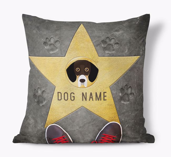 'Star of Fame' - Personalised Bassador Soft Touch Cushion